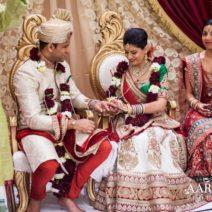 Hindu wedding ceremony tradition scarf binding