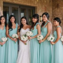 Mint and Gold wedding