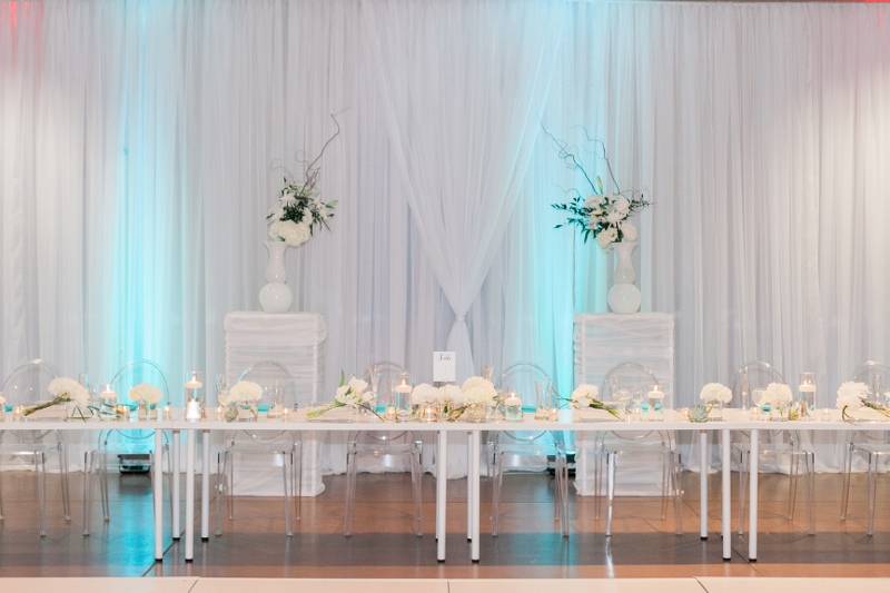 Modern Turquoise And White Wedding