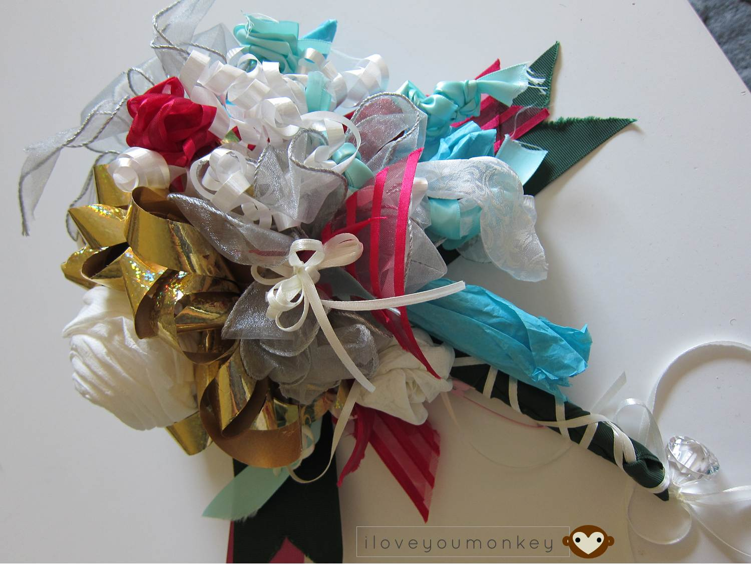 pillow talkwhat a ribbon rehearsal bouquet symbolizes