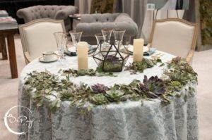 Sweetheart Table Terrarium Centerpiece Elegant Wedding