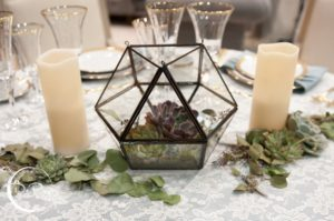 Terrarium Centerpiece Elegant Luxury Wedding