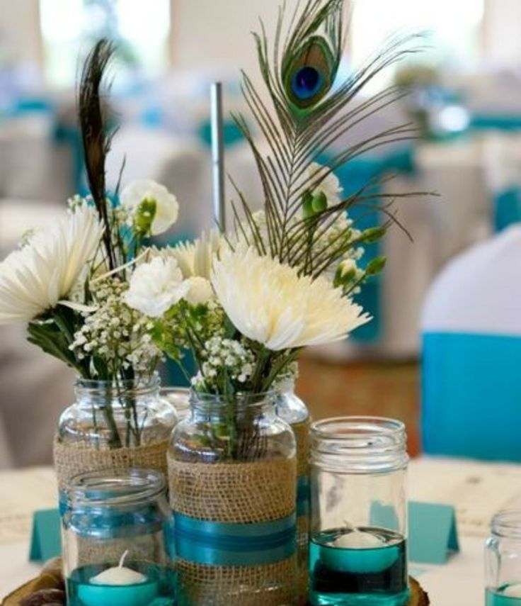 Peacock Wedding Centerpieces Ideas: Oh The Things We Love... Peacock Themed Weddings