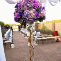Purple and teal wedding
