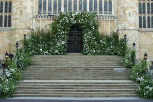 Prince Harry and Meghan's Royal Wedding Church Entry Decor