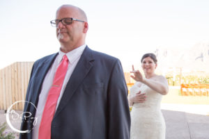 Father and Daughter First Look by DePoy Studios, Phoenix and Flagstaff Arizona Wedding Photographers