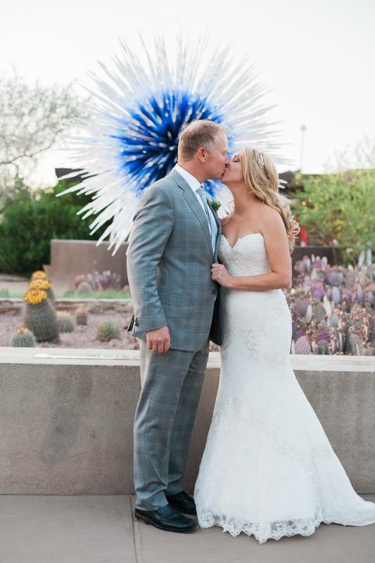 Bliss…  Real Weddings = Lauren and Denny at The Desert Botanical Garden