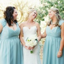 Modern , Turquoise and white wedding