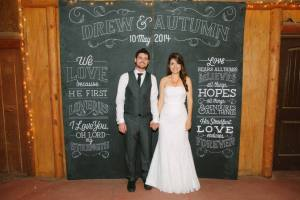 Wedding Chalk Art