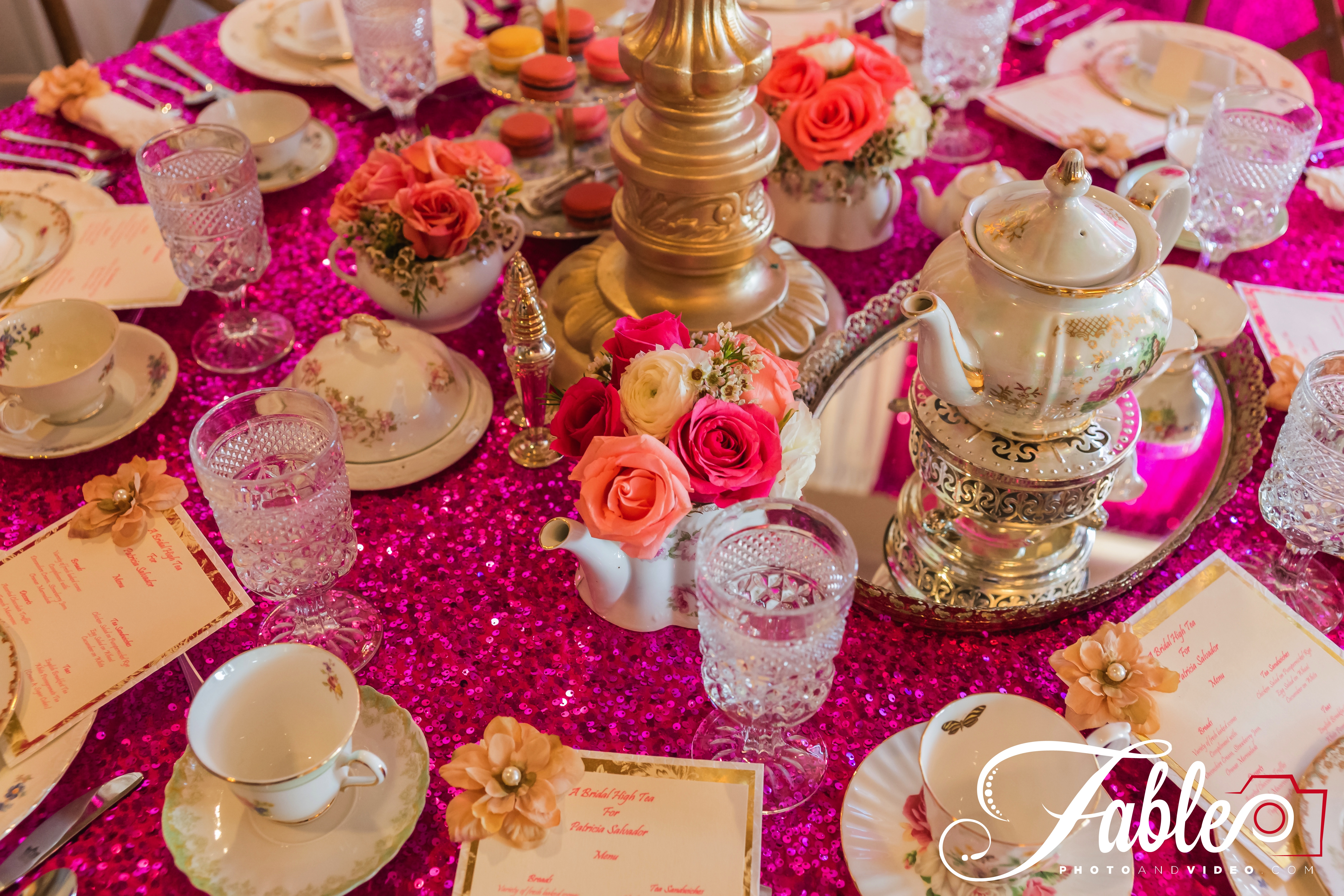 Pillow talk…  An Afternoon Tea Party As A Bridal Shower