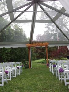 Rain Wedding Cover Backup