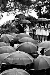 Umbrellas and Wedding Ceremony