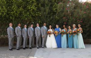 Turquoise and wildflowers Fountain Hills wedding in Arizona