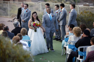 Turquoise wedding and wildflowers