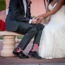 American Flag Socks for the Groom
