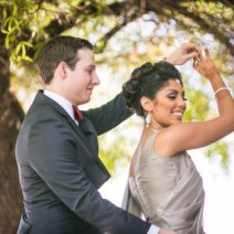 First Look Bride and Groom Arizona multicultural Bride and Groom