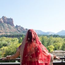 Erin and Jigar's Multicultural Wedding L'Auberge de Sedona Red Rocks Wedding Sedona Arizona