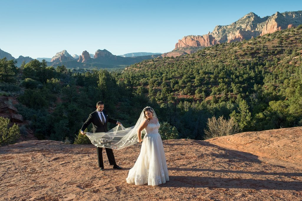 Sedona Destination Bride and Groom