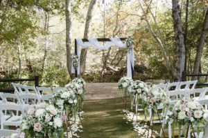 Erin and Jigar's Multicultural Wedding L'Auberge de Sedona Creekside white and blush wedding