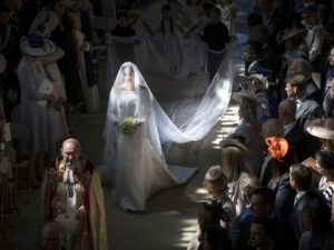 Prince Harry and Megan's Royal Wedding during Megan's bridal procession
