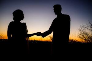 Hindu Desert sunset Arizona Destination Wedding