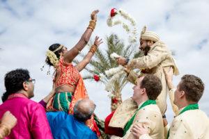 Arizona Destination Wedding Hindu Flower Garland Exchange