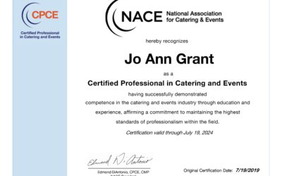Jo Ann M. Grant of Apropos Creations received the CPCE Designation