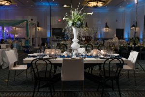 NACE Tantalizing Tables Blue and White Winter Wonderland Theme