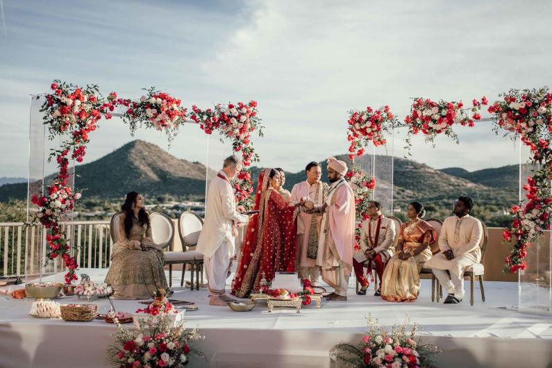 real wedding... Kanak + Teja at JW Marriott Starr Pass in Tucson Arizona